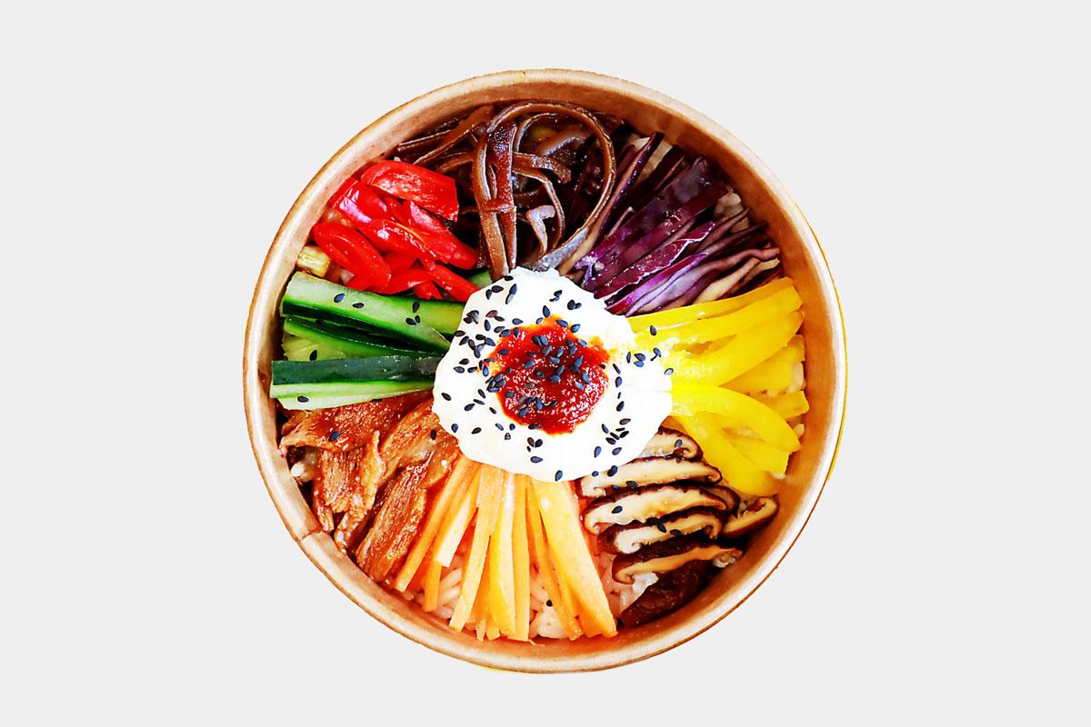 Korean Style Warm Rice Salad